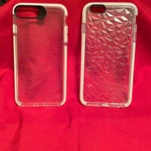 White trim transparent cases